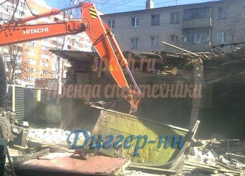 Демонтаж зданий, снос стен, слом конструкций.